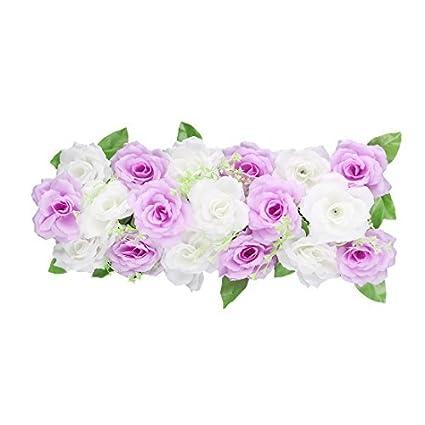eDealMax Fiesta de la boda Tela bricolaje arco de la pared colgante de la Flor Artificial