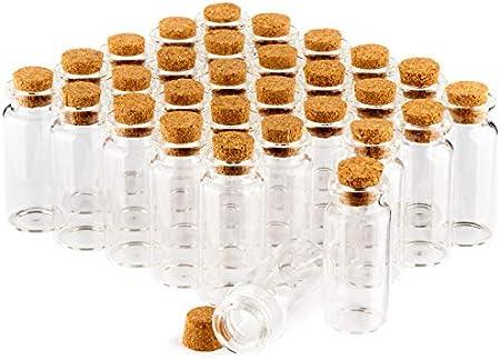 com-four® jarra de especias 30x con corchos, mini viales de vidrio, tarros de dulces, almacenamiento de aceites, especias, hierbas o té de aproximadamente 10 ml (030 piezas)