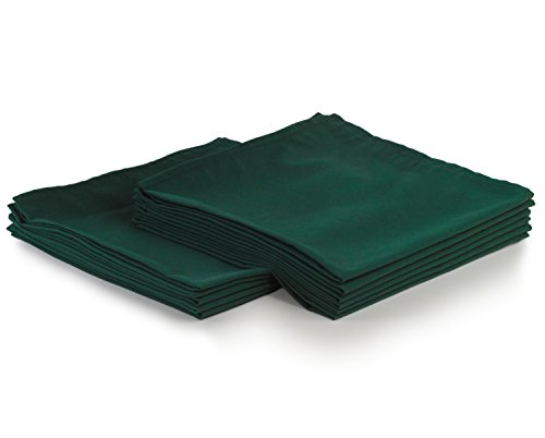 (Yourtablecloth Cloth Dinner Napkins100% Spun Polyester with Hemmed Edges 20x 20 Set of 12 (Forest Green))