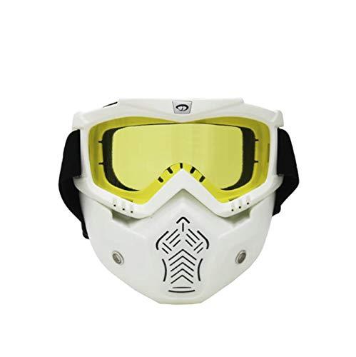 Gafas Protectoras Viento Gafas Amarillo Blanco Protectoras Casco Gafas de  de AnazoZ de Gafas Gafas Máscara ... 7290f254e3f16