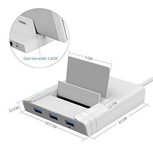 Unitek USB 3.0 3 Port Hub + Docking Station + OTG Adapter + RJ45 10/100/1000 Gigabit Ethernet Adapter for Windows Android Tablet, Smartphone Ultrabook by Unitek (Image #2)