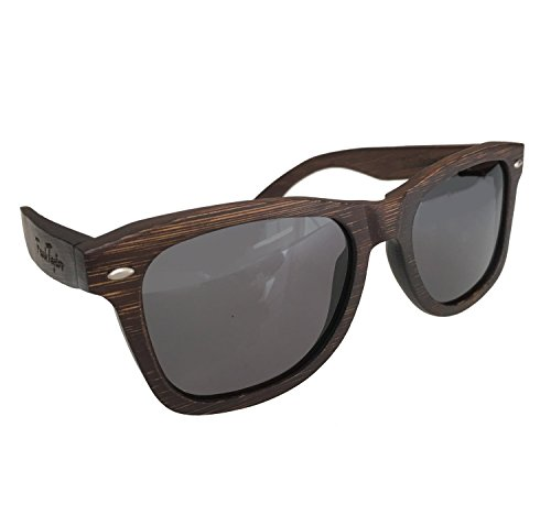 Wooden Sunglasses by Frank Taylor - Dark Bamboo - Handmade - 1 Year Warranty - Polarized - UV400