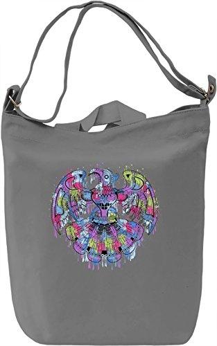 Splash Eagle Borsa Giornaliera Canvas Canvas Day Bag| 100% Premium Cotton Canvas| DTG Printing|