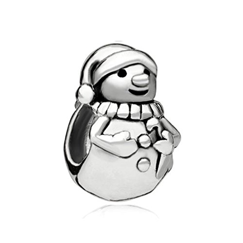 Christmas Snowman Charm (Christmas Snowman Gifts New Sale Cheap Jewelry Silver Plated Charm Beads Compatible With Pandora)
