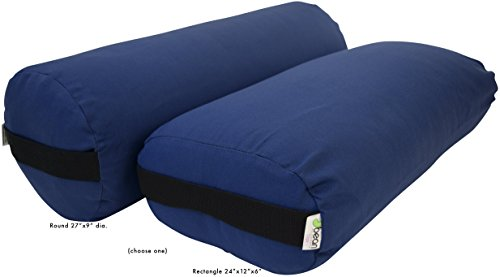UPC 694395009917, Yoga Bolster - Cotton Rectangle - Medium Blue