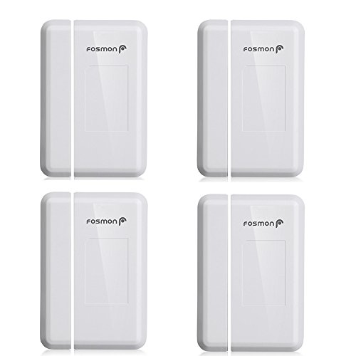 Fosmon 4 Pack WaveLink 51018HOM Add-On Door Sensor Unit (No Receiver) - White by Fosmon