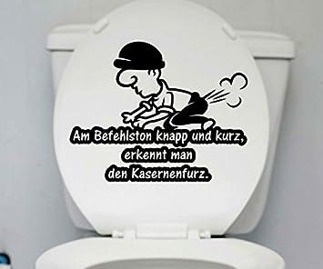 sprüche toilette WC Deckel Aufkleber Kasernenfurz Toilette Männer Spruch Sprüche  sprüche toilette
