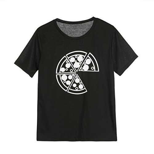 Moore Family Matching Outfits T-Shirt Father Daughter Daddy Mommy Girl Boys Parent Child Tops Pizza Pattern Black,1 Piece (Dad, (Daddy And Daughter Costumes)