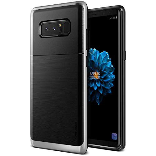 VRS Design [High Pro Shield] Dual Layer Case Hard Drop Protection Slim Thin Heavy Duty Compatible with Samsung Galaxy Note 8 (Satin - Viii Satin