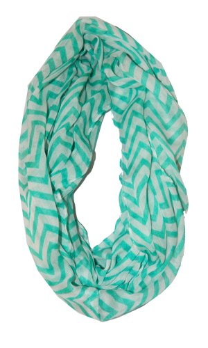 Cambridge Select Soft Chevron Sheer Infinity Scarf in Contrasting Colors