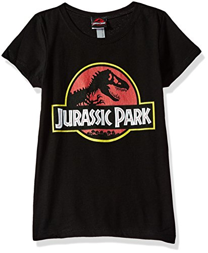 Price comparison product image Jurassic Park Little Girls' Logo Graphic Tee,  Black,  M