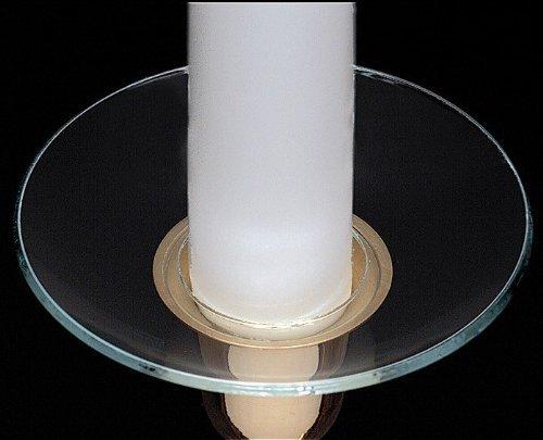 - Biedermann & Sons Candle Bobeches Deep Glass Style Set of 2 (M100D) (M100D Clear Deep)