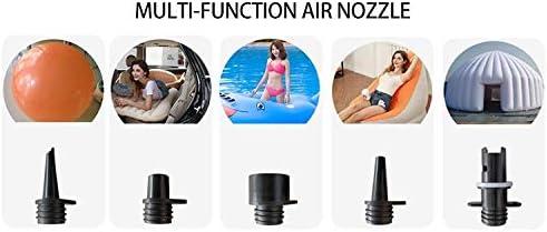 TGUO La Bomba de Aire el/éctrica 20PSI Sup con 6 extra/íble Aire grifos de Manguera de 12 V DC Bomba de Alta presi/ón con funci/ón Inteligente de Dos Posiciones de Apagado autom/ático