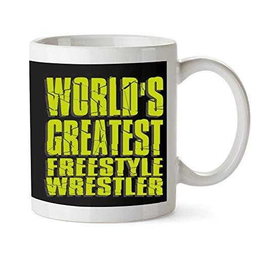 Idakoos WORLD GREATEST Freestyle Wrestler Mug 11 ounces