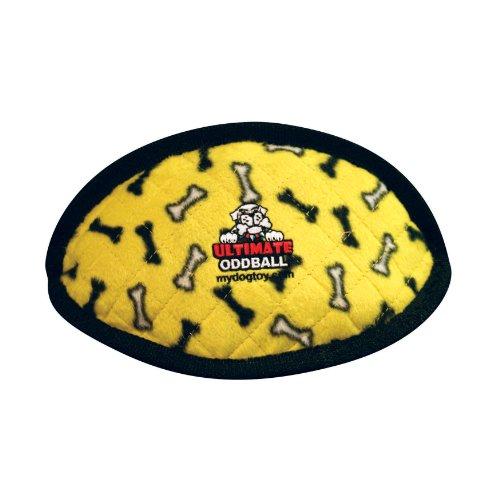 Tuffy's Ultimate Odd Ball Dog Toy, Yellow Bones, My Pet Supplies