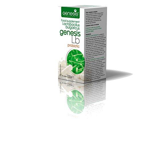 Genesis LB Probiotic with Lactobacillus Bulgaricus 30 capsules of 240 mg