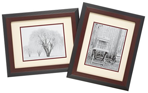 Old Town 2pk 11x14 Designer Frames, Walnut Step