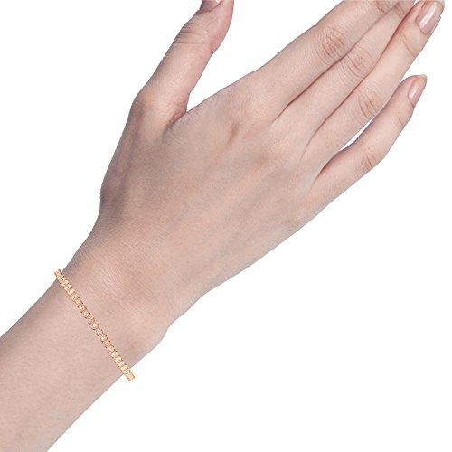 Libertini bracelet argent 925 femme plaque or Rose serti de Diamant complète l'éter...
