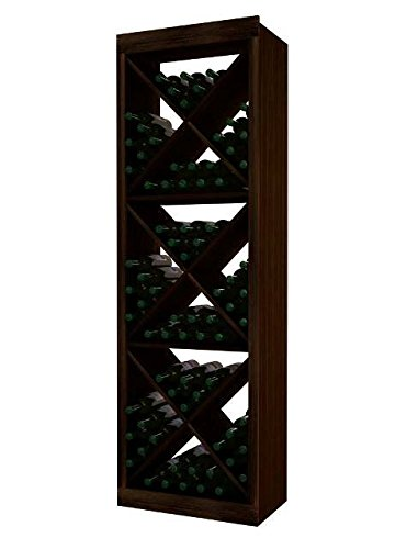 Wine Cellar Innovation Premium Redwood Designer Series Solid Diamond Cube, Dark Walnut Stain - 6 (Designer Solid Diamond Cube)