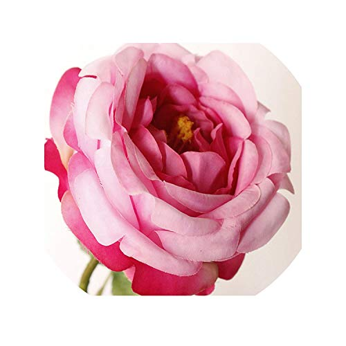 Rose Artificial Flower Silk Pink Peonies White Flower Bouquet Peonies Artificial Flower for Wedding Home Party Decoration,Purple -