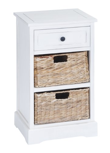 Deco 79 96188 Wood Basket Side Table, 28