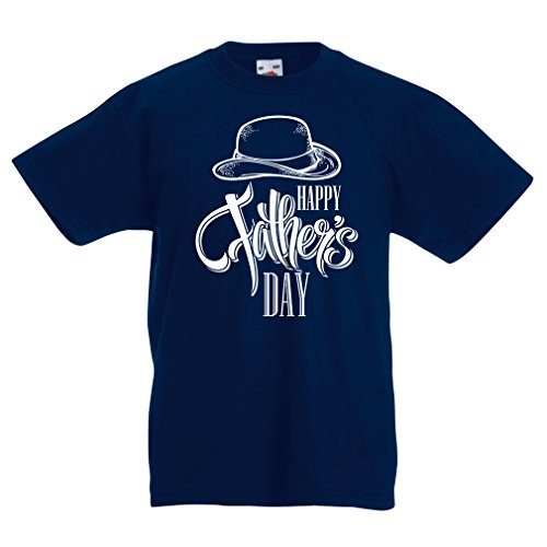 Camisas para niños Feliz día de los Padres - Mejor Regalo de su Hijo o Hija (9-11 Years Azul Oscuro Multicolor)