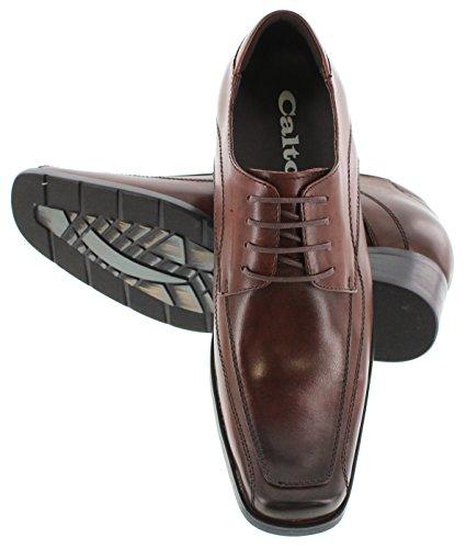 Calto G60702-2.8 Inches Taller - Height Increasing Elevator Shoes - Cordovan Dark Brown