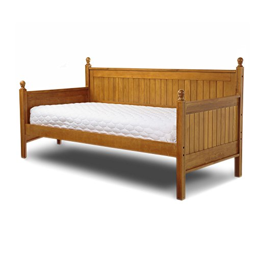 Leggett & Platt Casey Complete Wood Daybed with Ball Finials, Honey Maple Finish, Twin