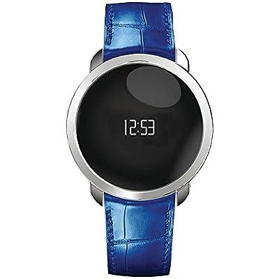 ZeCircle Premium Flat Activity Tracker (silver/blue)