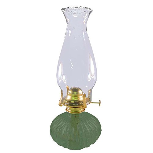 Victorian Oil Lamp - Glo-Brite Ellipse Oil Lamp - Mint
