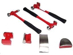 7pc Heavy Duty Auto Body Dent Repair Hammer Dolly Kit