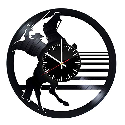 (Zorro Design Vinyl Record Wall Clock - Get unique gifts presents for birthday, Christmas, anniversary - Gift ideas for boys, girls, men, women, adults, him and)