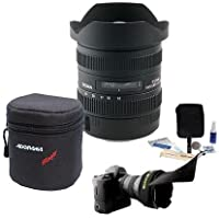 Sigma 12-24MM F/4.5-5.6 II DG HSM Autofocus Lens Bundle for Canon EOS, #204-101