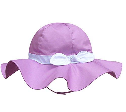 Spring / Summer Cotton Baby Girls 's Outdoor Bowknot Sun Hat /Beach ()