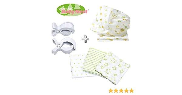 odenwälder Baby Nest pañales de tela//doble de Gasas//Vómitos//6 Pack Stars Boy//Práctico tamaño 80 x 80 cm//Premium Calidad: Amazon.es: Bebé