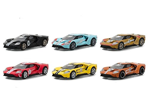Ford GT Racing Heritage Series 1, 6pc Set 1/64 Diecast Model Cars by Greenlight 13200