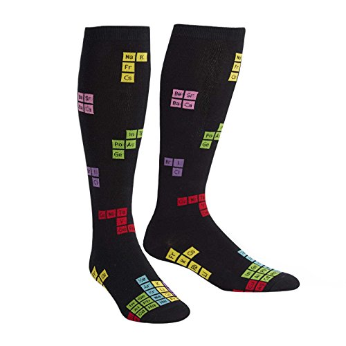 Sock It To Me, Joining Elements, Wide Calf, Unisex Stretch-It Knee High Socks (Periodic Table Socks)