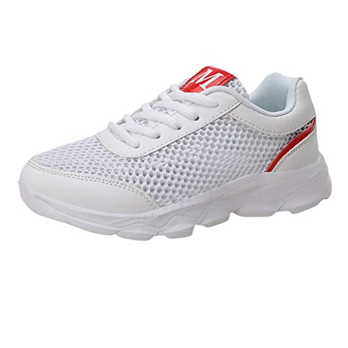 OrchidAmor 2019 Basic Non-Slip Women's Fashion Mesh Casual Breathable Sports Athletic Running Women's Sneakers White