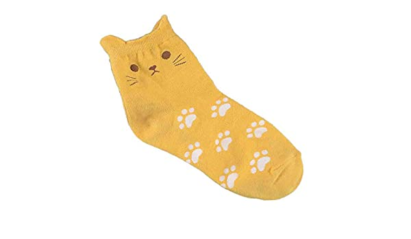 Kinlene Calcetines de huellas de gato Calcetines de tubo de ...