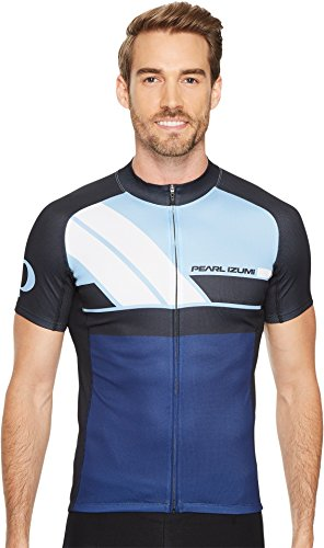 Pearl Izumi - Ride Men's Elite Escape Form Fit Jersey, Diagonal Blue, - Jerseys International Cycling