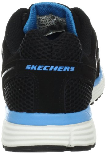Skechers Sport Mens Behendigheid Oxford Zwart Blauw