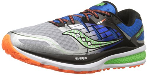 Saucony Men's Triumph ISO 2 Running Shoe, Blue/Silver/Slime, 15 M US (Saucony Hurricane 15)