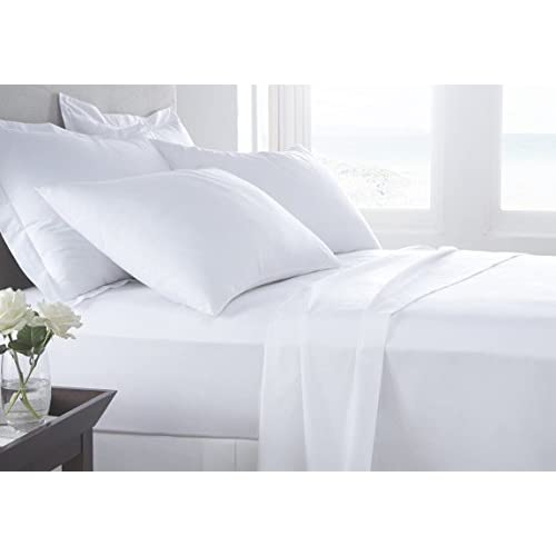 Discount Kotton Culture SHEET SET Luxurious Super Percale 1000 Thread Count Egyptian Cotton 4 Piece Sheet Set 15 Inch Deep By Solid (1 Fitted Sheet 1 Flat Sheet 2 Pillow Cases)(White, King) free shipping