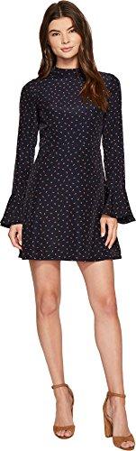 J.O.A. Women's Bell Sleeve Open Back Dress Navy Multi Small ()