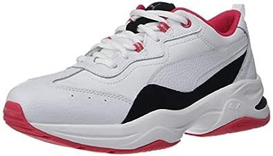 PUMA Women's Cilia Sneaker, White Black-red Rose Silver, 5.5 M US