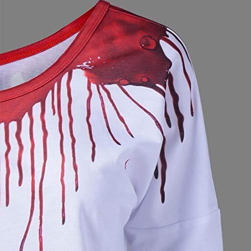 Imprim en Femmes Chemises Sweat Chemisier Pull Ciel Manches Arc LaChe Blanc Longues C Occasionnels I4xST4F
