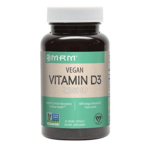 MRM - Vegan Vitamin D3, Meets Calcium and Bone Health Needs (2500IU 60 Count)