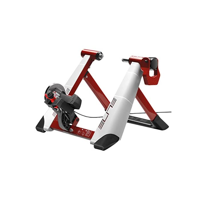 Elite Novo Force – Rodillo magnético de ciclismo (sistema de fijación rápida, máxima estabilidad), 8 niveles de resistencia