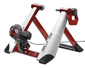 Elite Nova Force - Rodillo magnético de ciclismo (sistema de fijación rápida, máxima estabilidad), color rojo