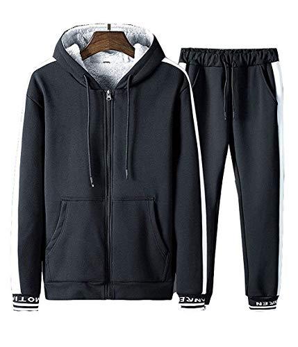 - TOP Fighting New Men Stripe Zip Pocket Track Pants Sweatsuit Men's Tracksuits Black